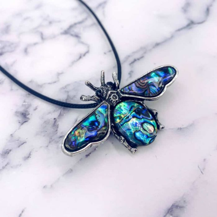 Titanium Scarab Beetle With Wings Broach-Pendant