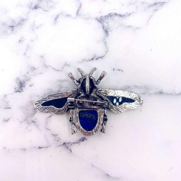 Scarab Beetle Lapis Lazuli Turquoise Rose Quartz Amethyst Abalone Titanium Silver Pendant Brooch5-w900-h900