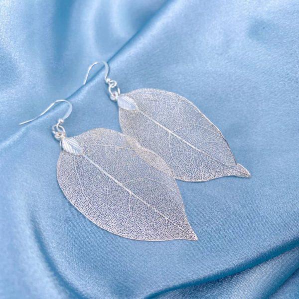 Silver Leaf Earrings-w900-h900