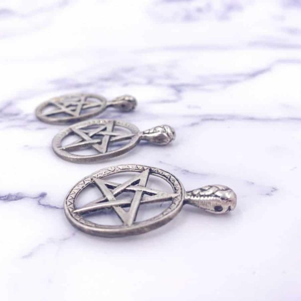 Silver Plated Pentacle Pendant 1-w900-h900
