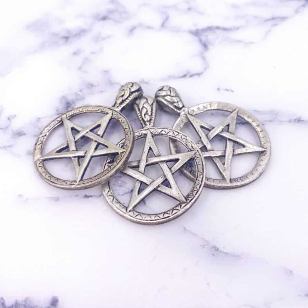 Silver Plated Pentacle Pendant 2-w900-h900