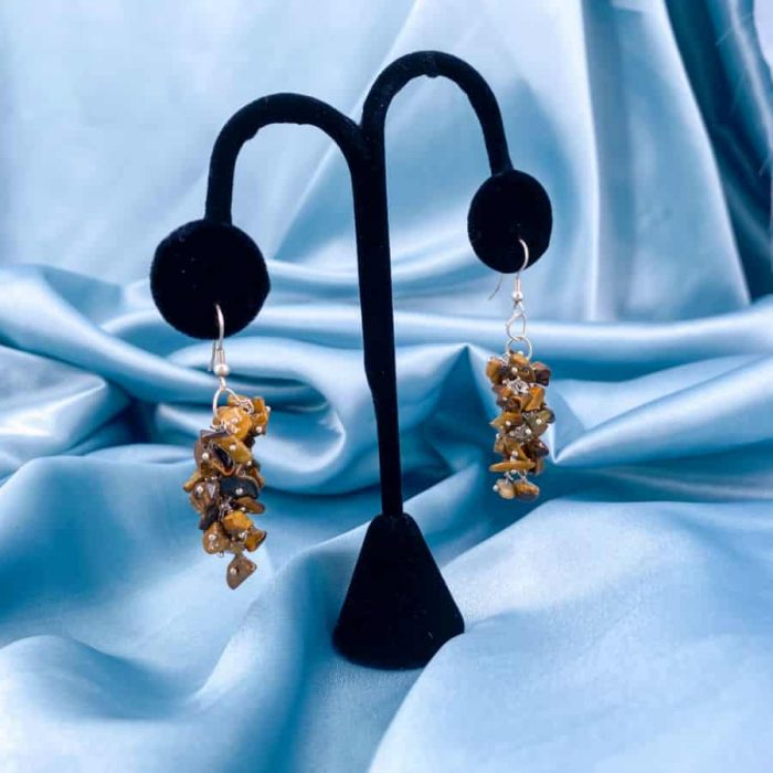 Tiger's Eye Chip Earrings