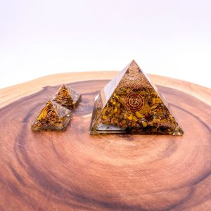 Tiger's Eye Orgonite Pyramid