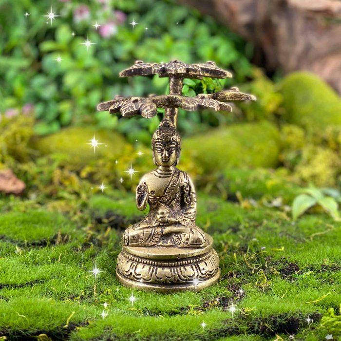 Brass Bodhi Tree Buddha