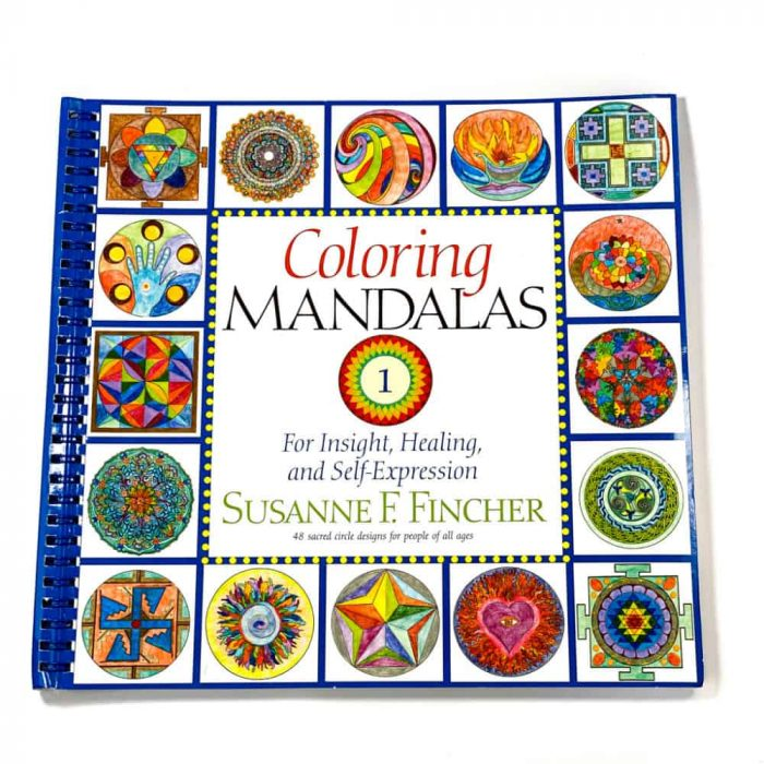 Coloring Mandalas Book Front View