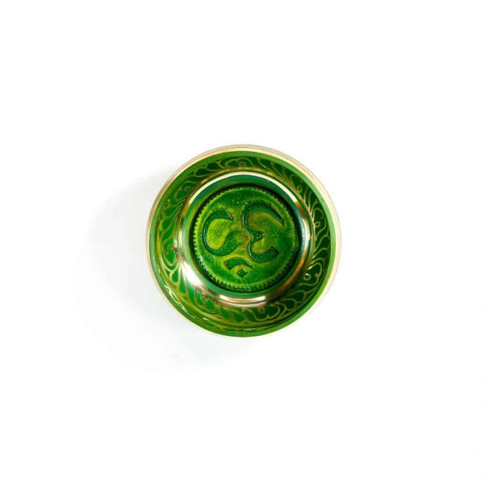 12 Cm Green Colored Singing Bowl Tallahassee Metaphysical Shop 2 (2)