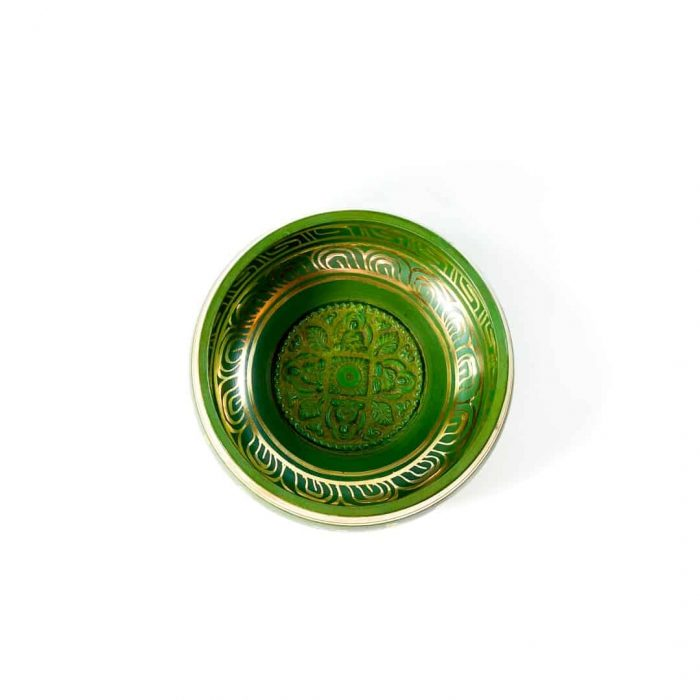13 Cm Green Colored Singing Bowl Tallahassee Metaphysical Shop 2 (2)