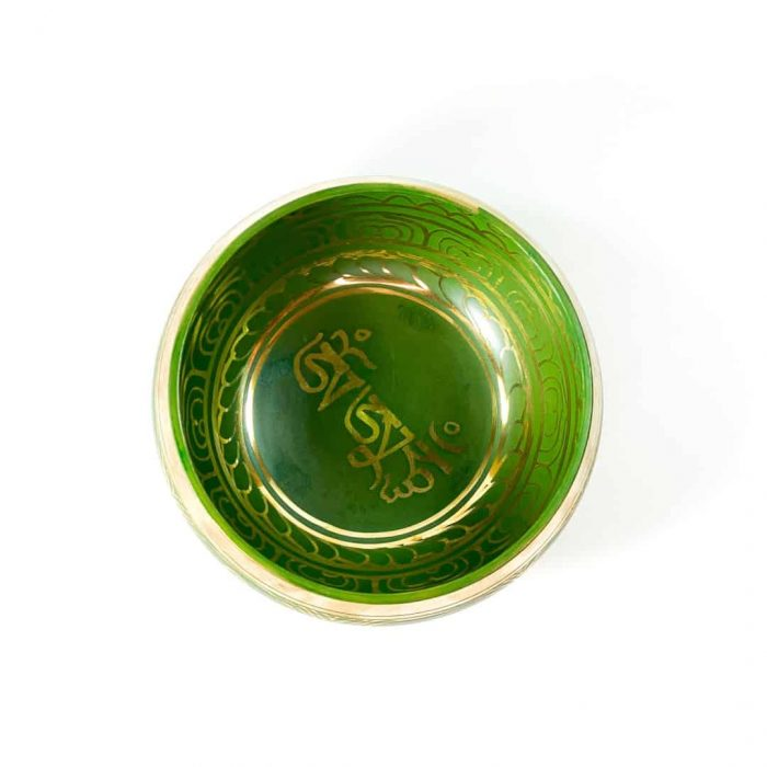15 Cm Green Colored Singing Bowl Tallahassee Metaphysical Shop 2 (2)