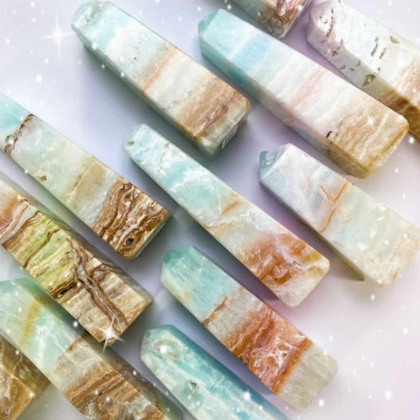 Caribbean Blue Calcite Towers Tallahassee Metaphysical Shop-2