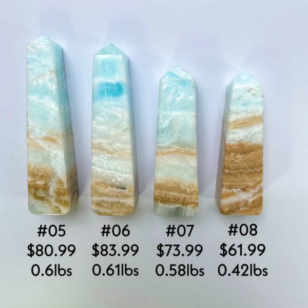 Caribbean Blue Calcite Towers Tallahassee Metaphysical Shop-5