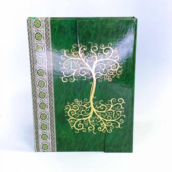 Celtic Tree Green Journal Tallahassee Metaphysical Shop White Front View