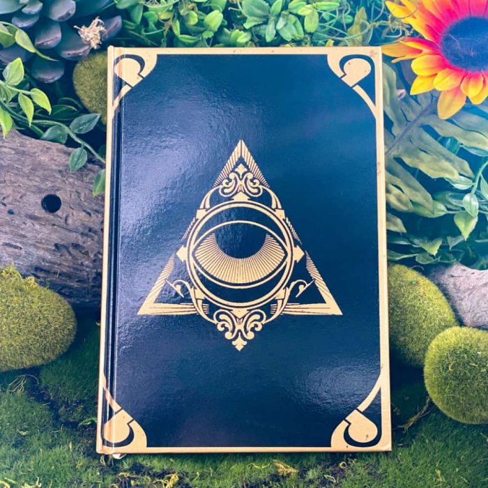 Night Sun Journal Gold Black All Seeing Eye