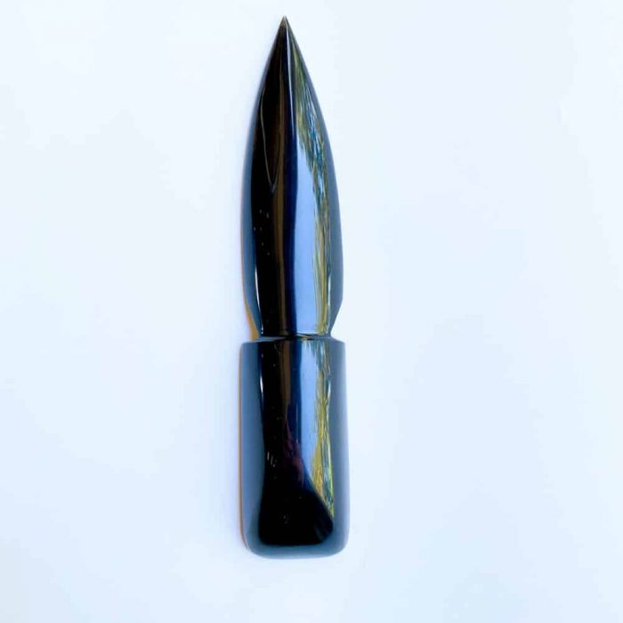 Black Obsidian Athame White Background